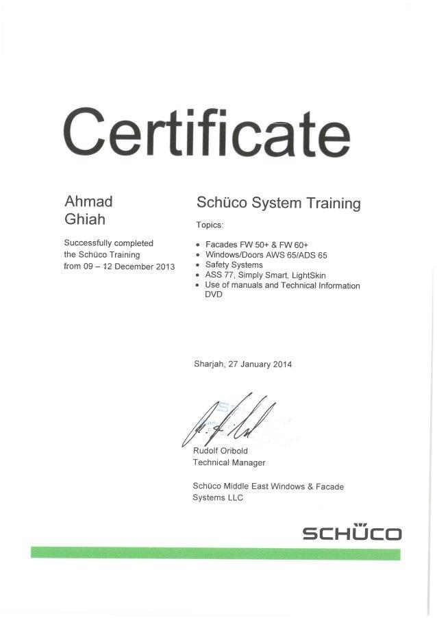 2-(Schuco Certificate)