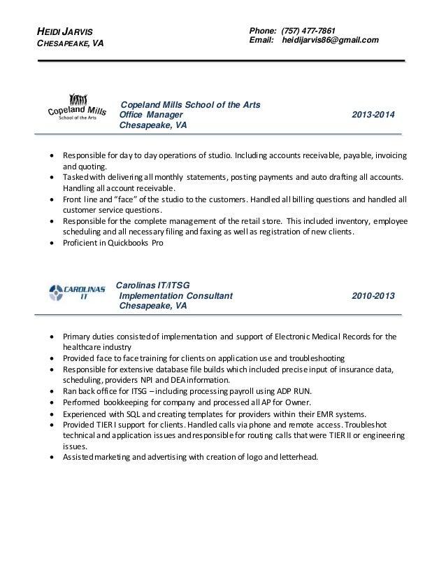 heidi jarvis updated resume 2016