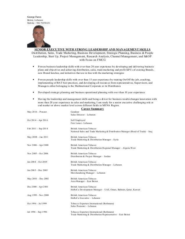 George Fares Resume - 12 2 2017