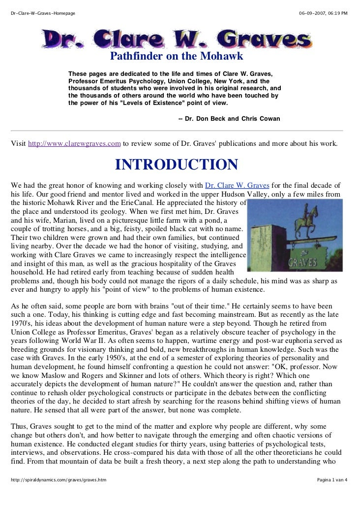 Dr-Clare-W-Graves-Homepage                                                                        06-09-2007, 06:19 PM    ...