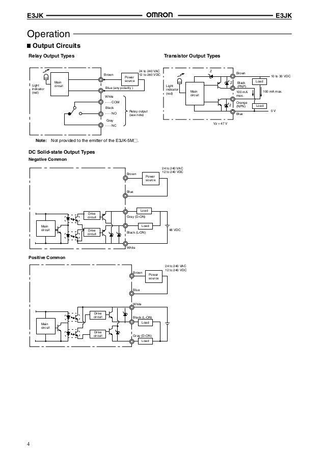 E3JK Omron Sensor E Jk Dm Electric Wiring Diagram Photo on