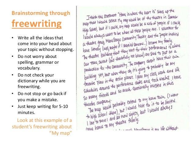 e m brainstorming techniques  4 • write all the ideas