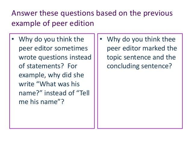 E3 m3 4 Peer editing