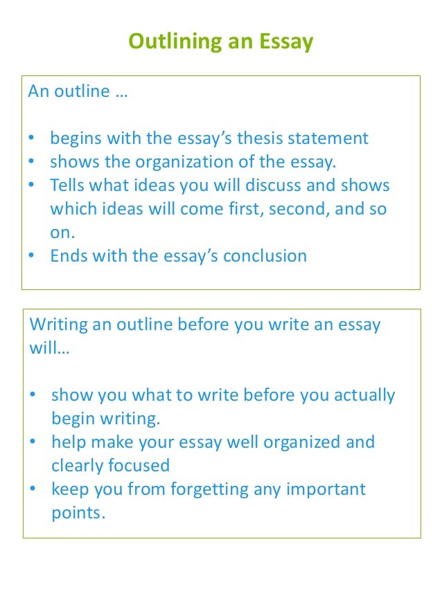 outlines for essays