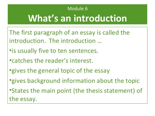whats a good introduction for a essay