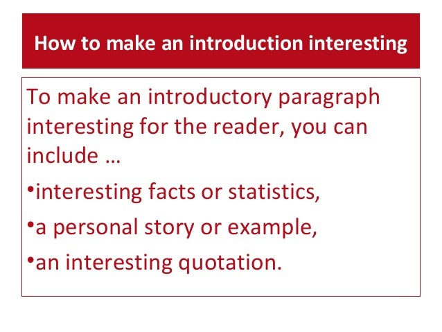 Howto Produce an Introduction for an Article
