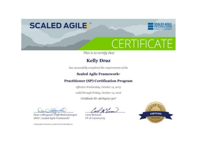 Scaled Agile Framework Practitioner Certification