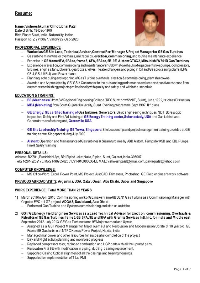 resume vishwesh april 16