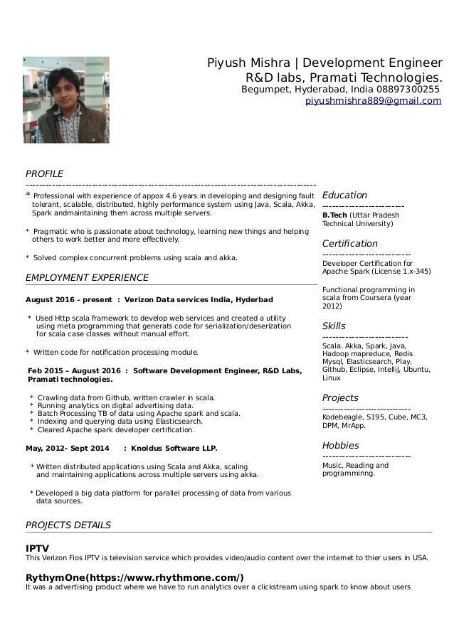 Spark resume