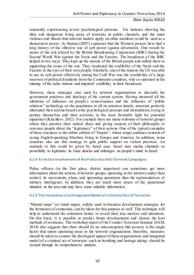 Office of counterterrorism essay