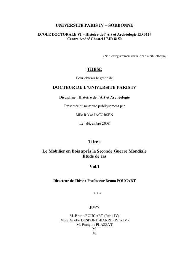UNIVERSITE PARIS IV – SORBONNE ECOLE DOCTORALE VI – Histoire de l'Art et Archéologie ED 0124 Centre André Chastel UMR 8150...