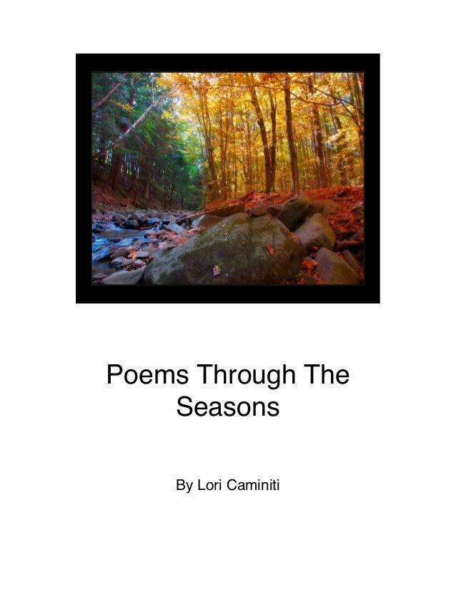 Poems Through The Seasons By Lori Caminiti