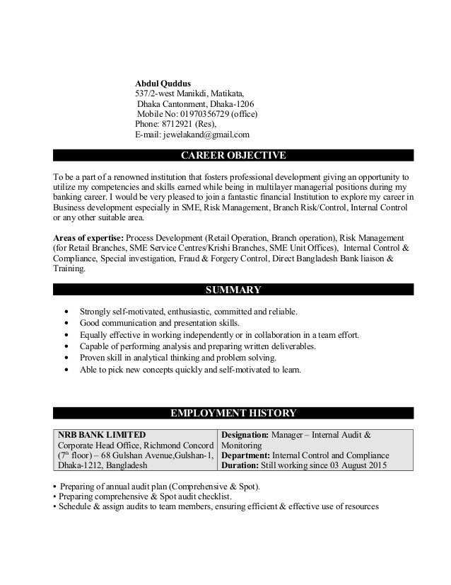 Modern Concord Management Resume Composition - Administrative ...