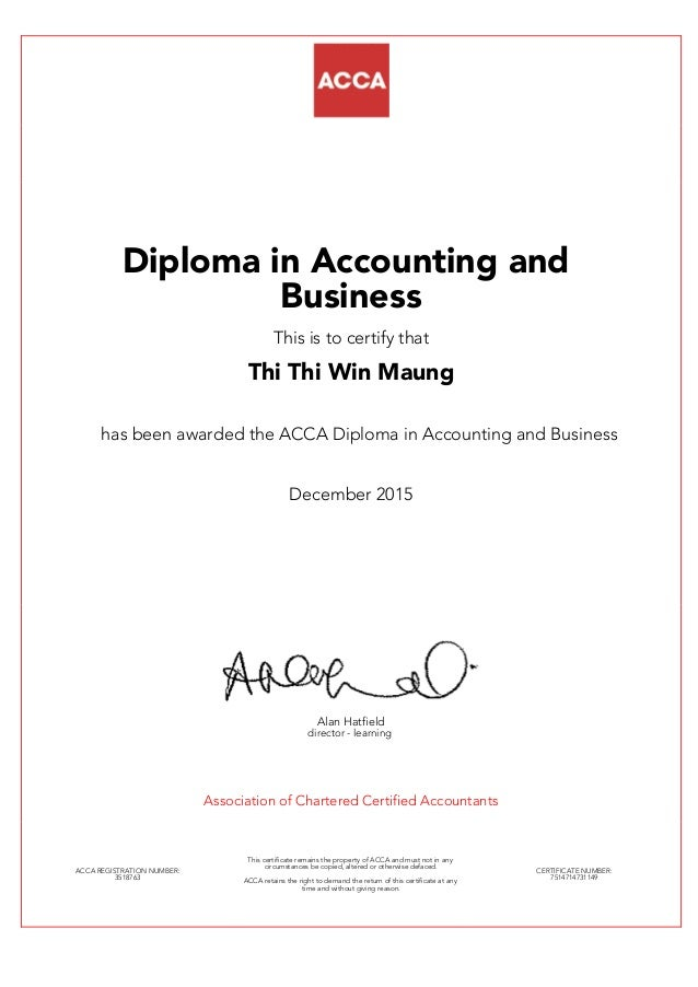 ACCA Part1(Diploma in Accounting and Business)