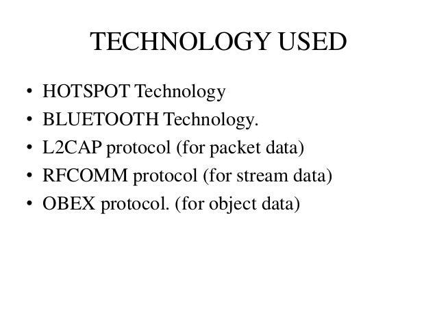 SEMINAR ON Bluetooth Hotspot