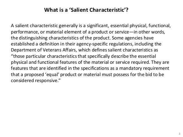what are salient characteristics