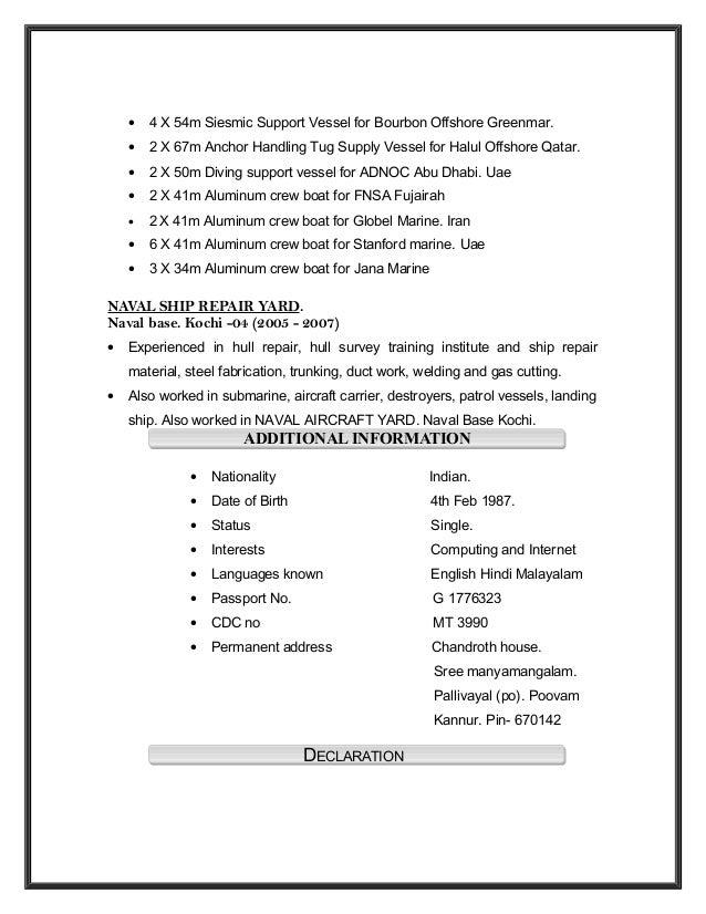 piping foreman resume binoy tc