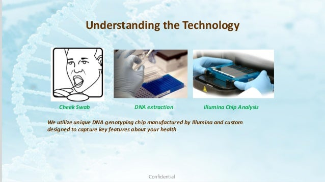 Cheek Swab We utilize unique DNA genotyping chip manufactured by Illumina and custom designed to capture key features abou...