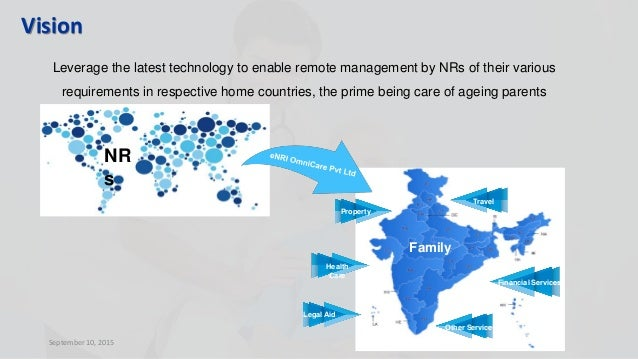 September 10, 2015 Vision Leverage the latest technology to enable remote management by NRs of their various requirements ...