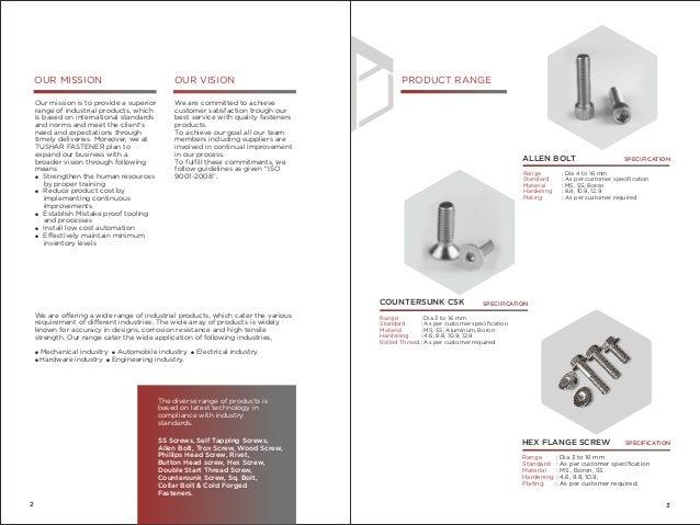 Company Profile - Tushar Fastener Slide 3
