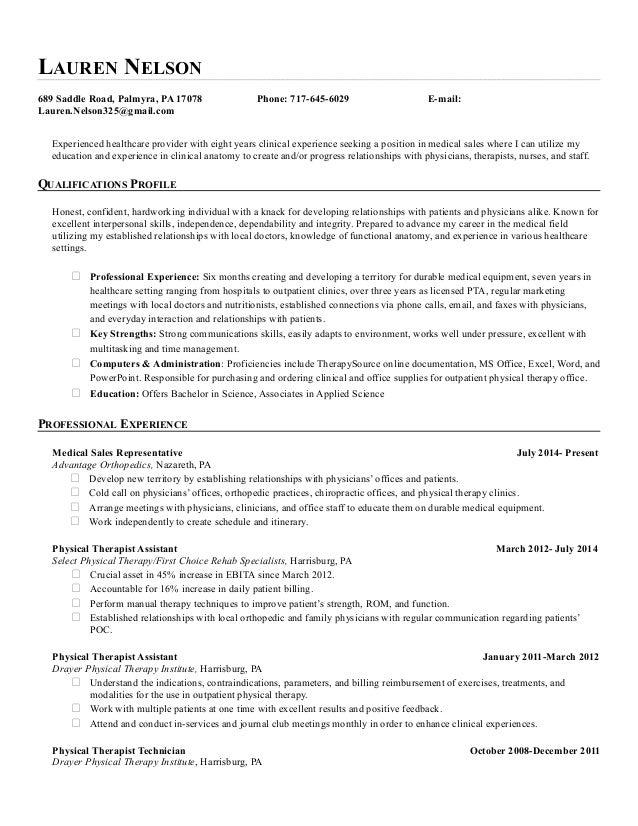 Lauren Nelson Sales Resume