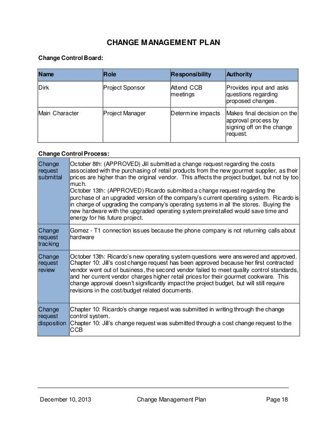 Change Control Board Template. template cinema resume doc credit ...