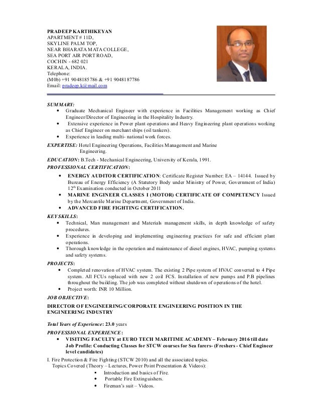 resume pradeep karthikeyan for cochin