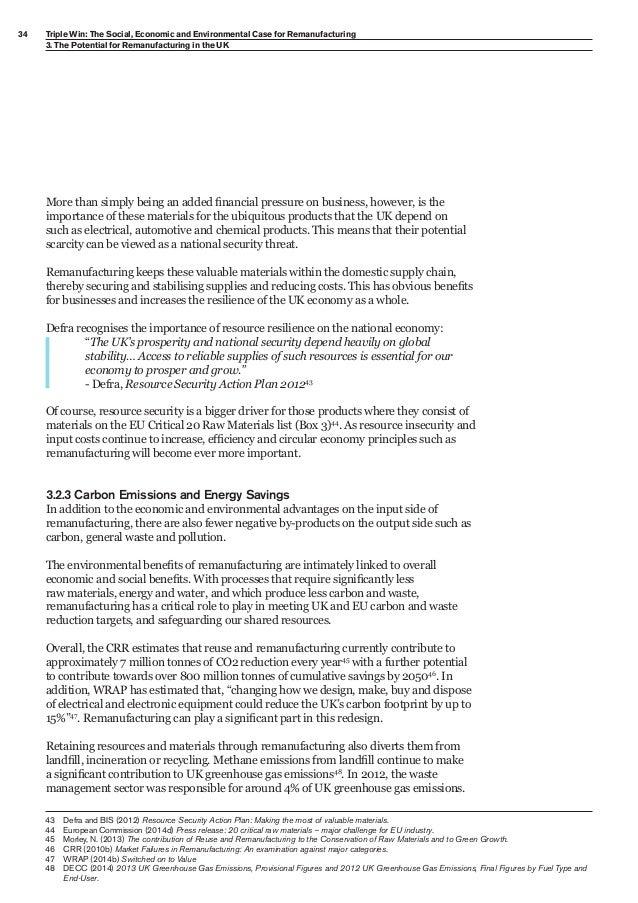 remanufacturing business plan