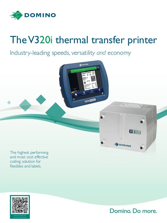 TheV320i thermal transfer printer The highest performing and most cost effective coding solution for flexibles and labels....