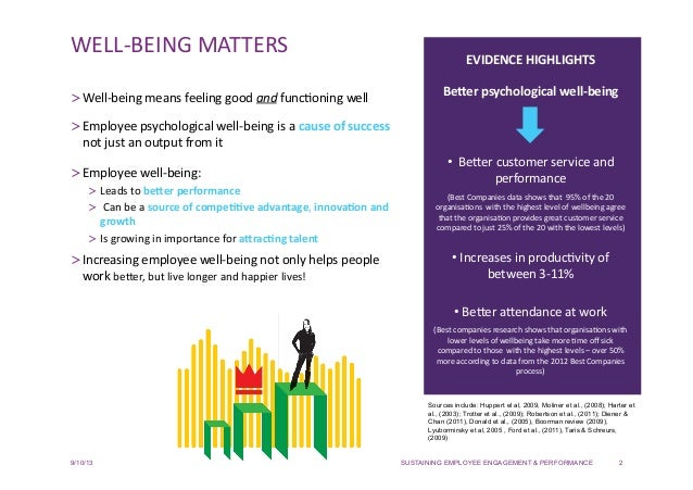 Sustaining Employee Engagement & Performance - Why Well-being Matters Slide 2
