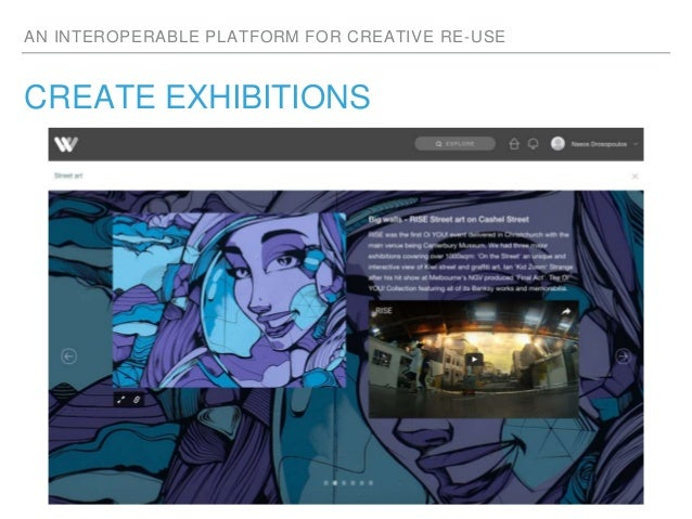 AN INTEROPERABLE PLATFORM FOR CREATIVE RE-USE CREATE EXHIBITIONS