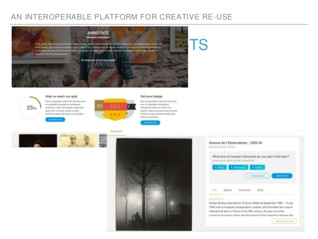AN INTEROPERABLE PLATFORM FOR CREATIVE RE-USE WITH IN OTHER PROJECTS