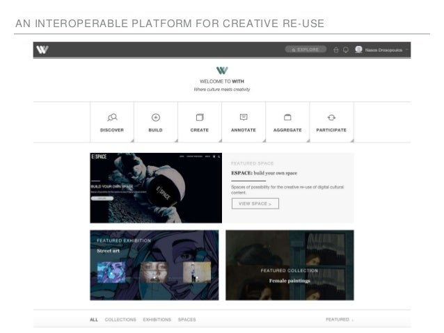 AN INTEROPERABLE PLATFORM FOR CREATIVE RE-USE