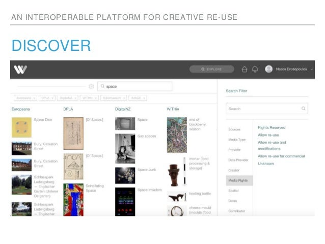 AN INTEROPERABLE PLATFORM FOR CREATIVE RE-USE DISCOVER