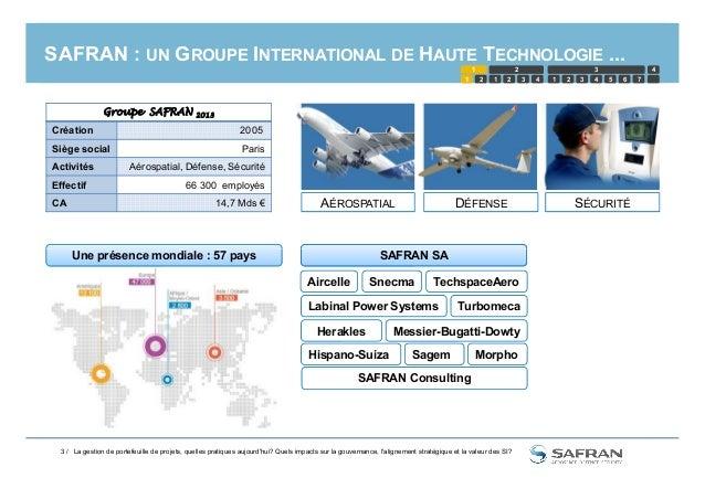 SAFRAN : UN GROUPE INTERNATIONAL DE HAUTE TECHNOLOGIE ... AÉROSPATIAL DÉFENSE SÉCURITÉ SAFRAN SAUne présence mondiale : 57...
