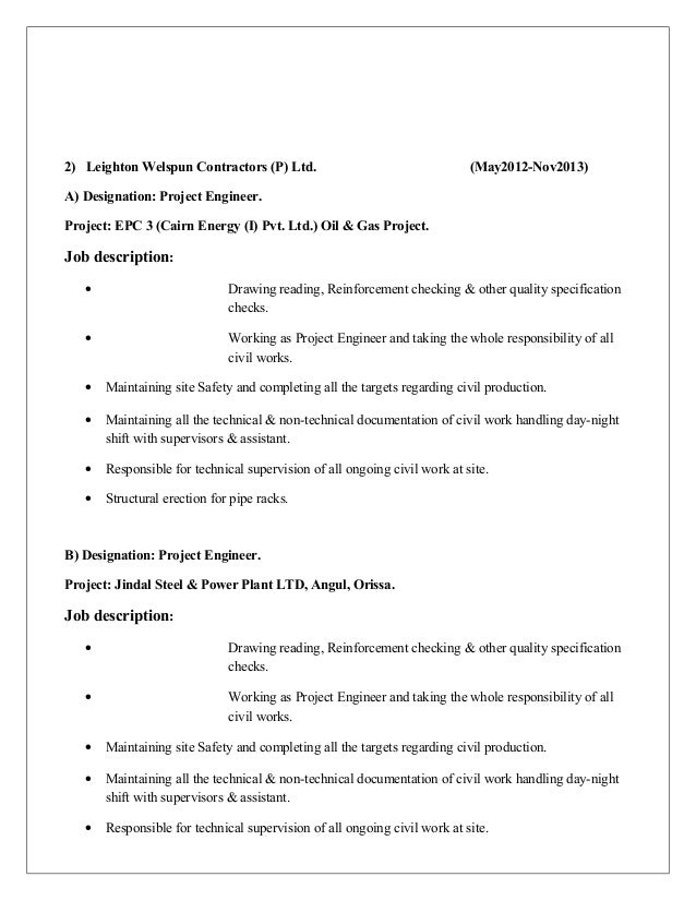 Top Mechanical Project Engineer Resume Samples LiveCareer Engineer Project  Manager Carrer Highlight Electrical  Project Engineer Resume
