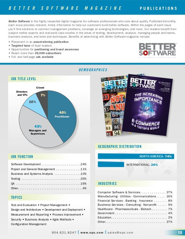 B E T T E R S O F T W A R E M A G A Z I N E Better Software is the highly respected digital magazine for software professi...