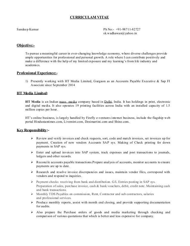 resume ht media