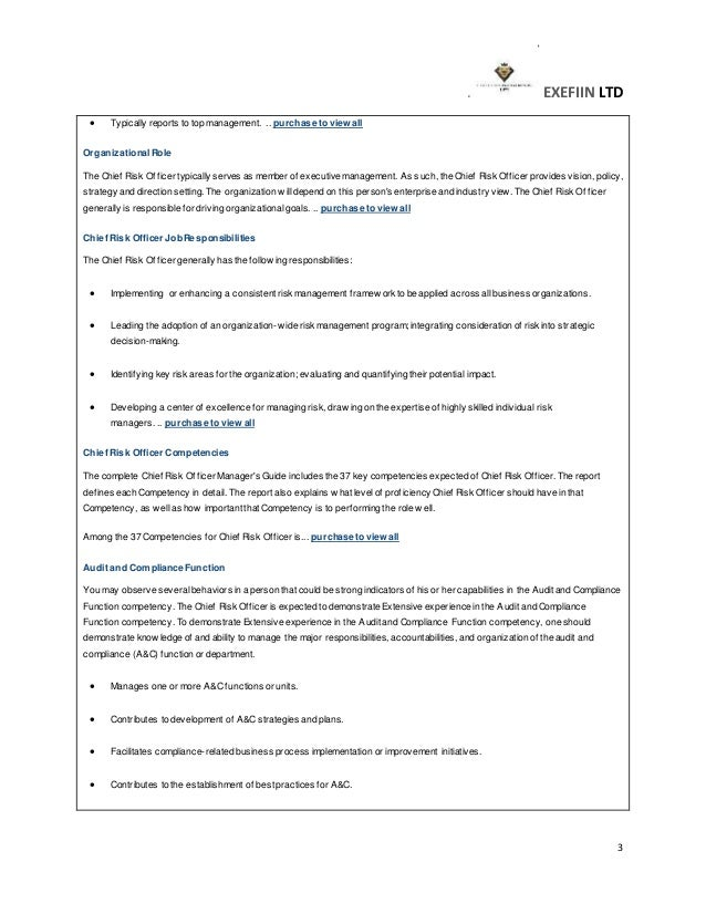 Job description form – Risk Management Job Description