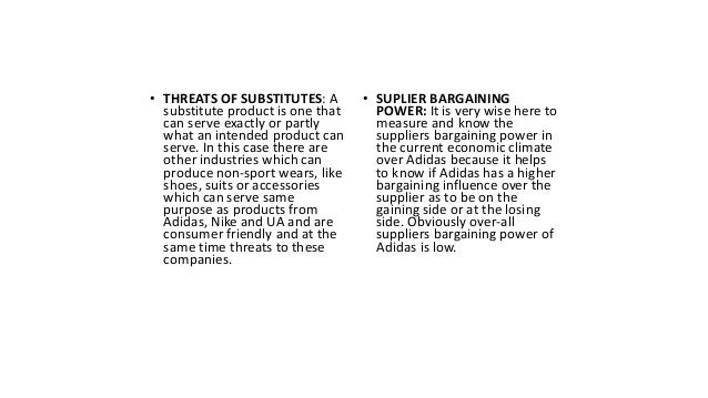 FIVE FORCES MODEL • BUYER BARGAINING POWER: For the fact that ''the customer is the king''. The sensitivity of price and t...