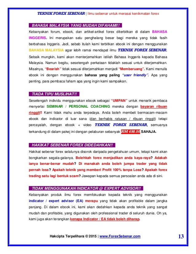 Teknik forex sebenar ebook download