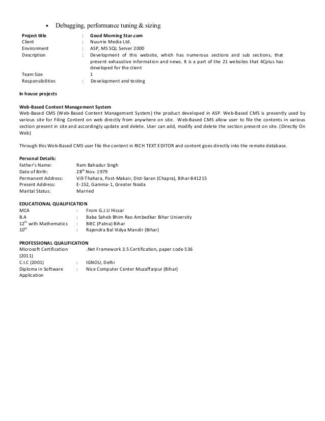 • Debugging, performance tuning & sizing Project title : Good Morning Star.com Client : Nuurrie Media Ltd. Environment : A...