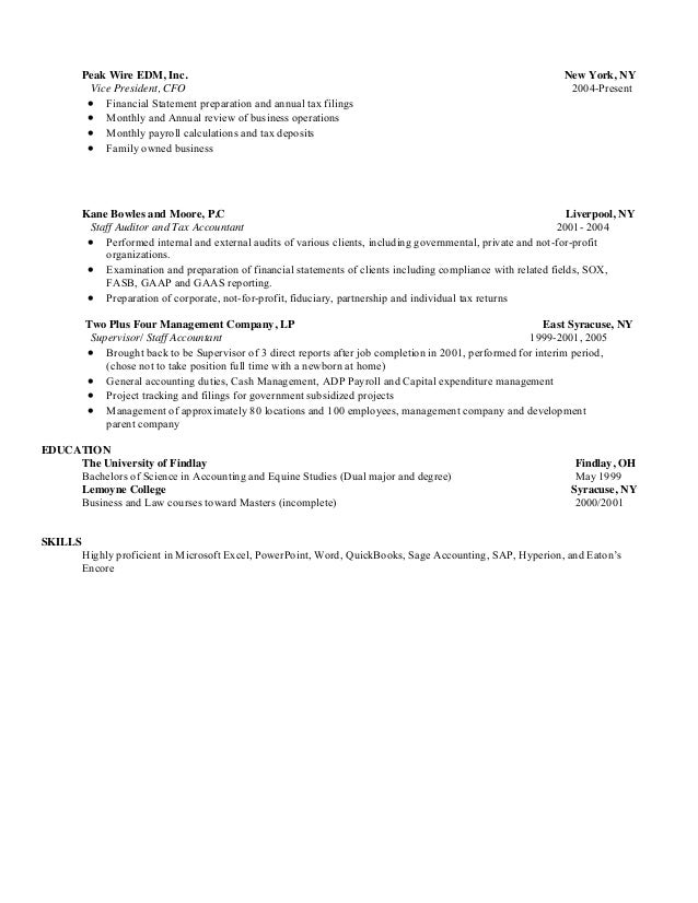 Magnificent Sage Accounting Resume Mold - Administrative Officer ...