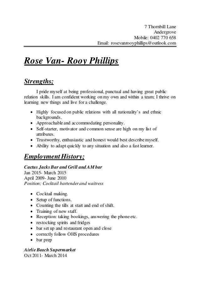 updatwd resume