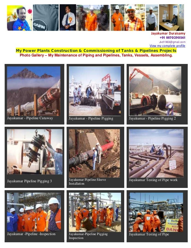 27 Yrs Exp EPC- Piping & Pipelines Projects Pdf