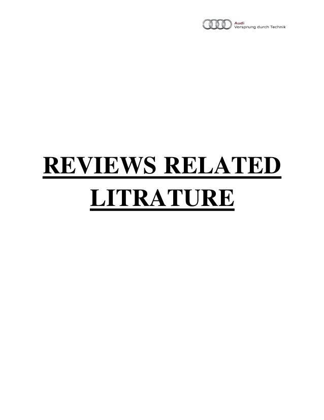 review and related litrature How to write a literature review will g hopkins phd department of physiology and school of physical education, university of otago, dunedin 9001, new zealand.
