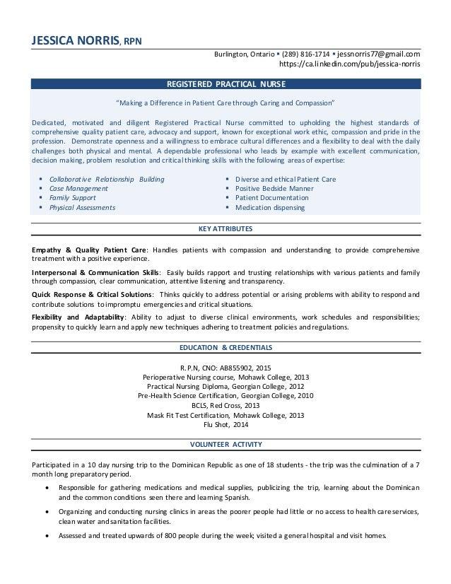 rpn resume templates