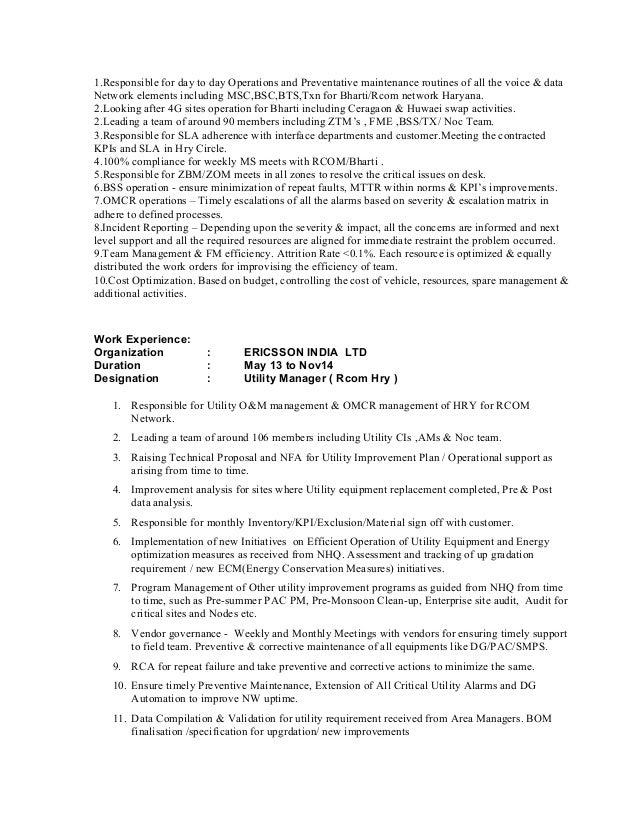 Fantastic Energy Utility Resume Vignette - Administrative Officer ...