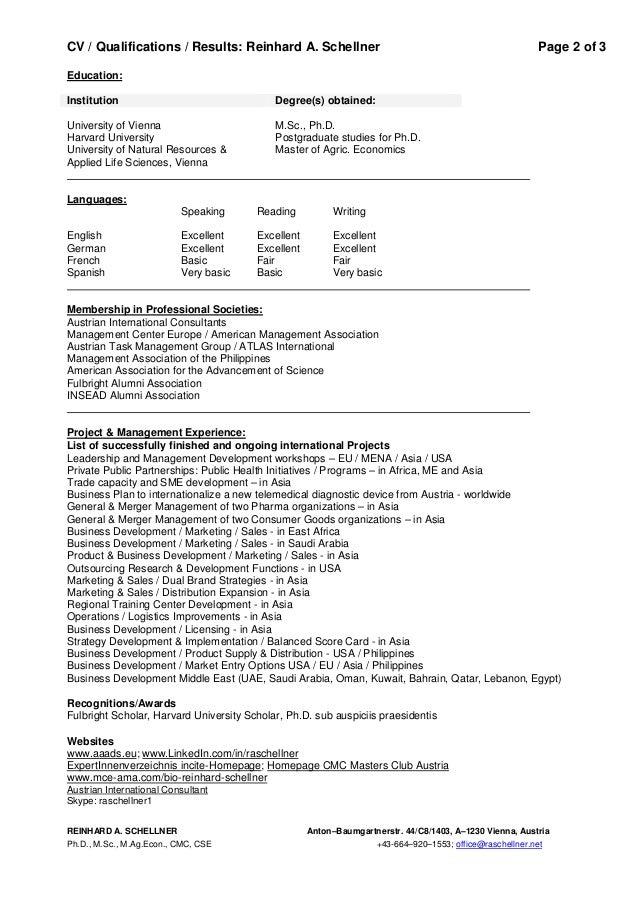 consultant  u0026 board - expert cv reinhard schellner