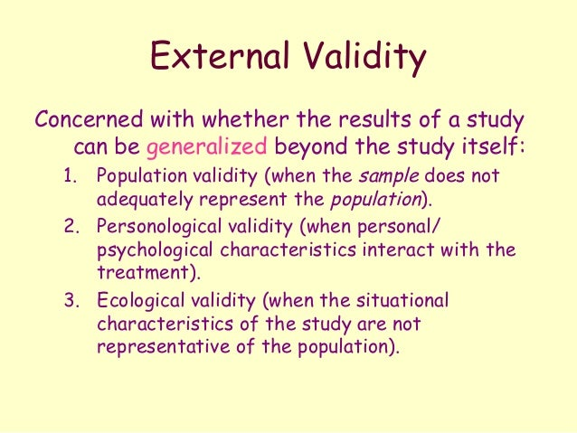 External Validity Definition & Examples - Statistics How To